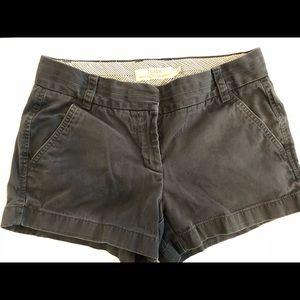"""3"""" J Crew women's chino shorts, navy"""